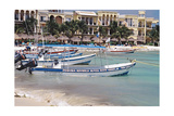 Sports Fishing Boats of Playa del Carmen Mexico