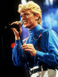 David Bowie Performing on Stage