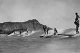 Honolulu  Hawaii - Surfers off Waikiki Beach Photograph