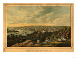 Georgetown  Washington DC - Panoramic Map