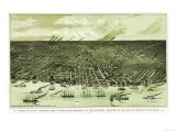 Detroit  Michigan - Panoramic Map