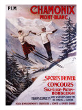 Chamonix Mont-Blanc  France - Skiing Promotional Poster