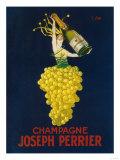 France - Joseph Perrier Champagne Promotional Poster Reproduction d'art par Lantern Press