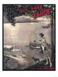 Lake Tahoe  California - Wooden Boat Poster