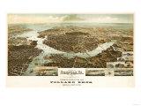 Norfolk  Virginia - Panoramic Map