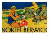 North Berwick  Scotland - Golf Coast Promotional Poster
