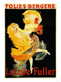 Paris  France - Loie Fuller at the Folies-Bergere Theatre Promo Poster