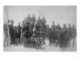 """Black """"Buffalo Soldiers"""" of the 25th Infantry Photograph - Fort Keogh  MT"""