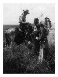 Cowboy Trading with Indians Using Sign Language - Tucumcari  NM