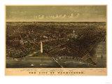 District of Columbia  Washington - Panoramic Map
