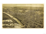 Wilkes-Barre  Pennsylvania - Panoramic Map