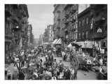 Market on Mulberry Street in New York City Photograph - New York  NY