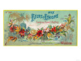 Fleurs D Ethiopie Soap Label - Paris  France