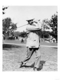 Golfer Ted Ray Swinging a Club Photograph