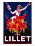 Kina Lillet Vintage Poster - Europe Reproduction d'art par Lantern Press