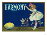 Harmony Lemon Label - San Dimas  CA