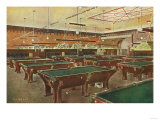 Interior View of the Graney Pool Hall - San Francisco  CA