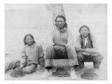 Lakota Indian Teenagers in Western Dress Photograph - Pine Ridge  SD