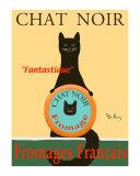Chat Noir II - Black Cat Reproduction pour collectionneurs par Ken Bailey