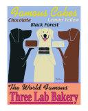 La boulangerie des trois labradors Reproduction pour collectionneurs par Ken Bailey