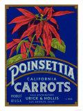 Poinsettia Carrot Label - Los Angeles  CA