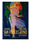 San Pellegrino Vintage Poster - Europe Reproduction d'art par Lantern Press
