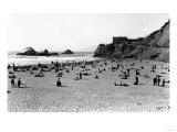 San Francisco  CA Cliff House and Beach Scene Photograph - San Francisco  CA