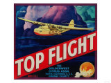 Top Flight Orange Label - Tustin  CA