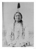 Sitting Bull Native American with Peace Pipe Photograph - Bismarck  ND