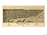 Washington - Panoramic Map of Tacoma