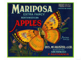 Mariposa Apple Label - San Francisco  CA