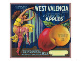 West Valencia Apple Crate Label - Watsonville  CA