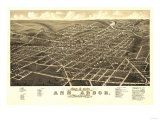 Ann Arbor  Michigan - Panoramic Map