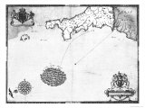 Map No 1 Showing the Route of the Armada Fleet  Engraved by Augustine Ryther  1588