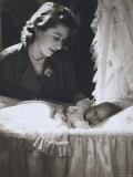 Her Royal Highness the Princess Elizabeth with Her First Child  Prince Charles  England