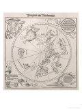 Map of the Southern Sky  Cardinal Lang Von Wellenburg Dedication  Imperial Copyright  1515