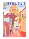Poster for Guanajuato  Mexico  Colonial Streets