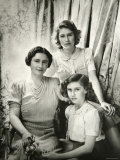 Her Majesty Queen Elizabeth the Queen Mother  Princess Elizabeth and Princess Margaret