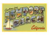 Greetings from Newport Beach  California