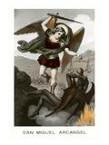 St Michael the Archangel Fighting Dragon