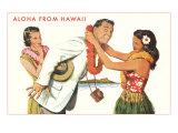 Aloha  Man Getting Lei  Hawaii