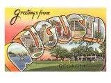 Greetings from Augusta  Georgia