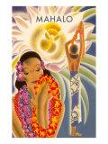 Mahalo  Hawaiian Menu Graphic
