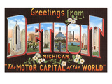 Greetings from Detroit  Michigan
