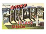 Greetings from St Simon's Island  Georgia