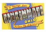 Message from Cincinnati  Ohio