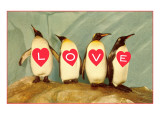 Four Emperor Penguins  LOVE
