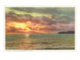 Sunset off Point Poma  San Diego  California