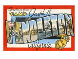 Greetings from Camp Pendleton  California