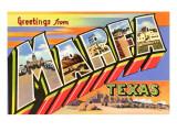 Greetings from Marfa  Texas